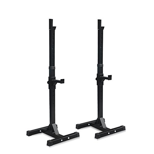 Super Deal Weight Lifting 55LB Barbell Stand Gym Fitness Pair of Adjustable Squat Rack Bench Press Stands/GYM/ Home Portable Dumbbell Racks Stand Black