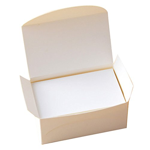 Lanlan 100pcs Blank Kraft Paper Double-sided Business Cards Word Card Message Card DIY Gift Card white