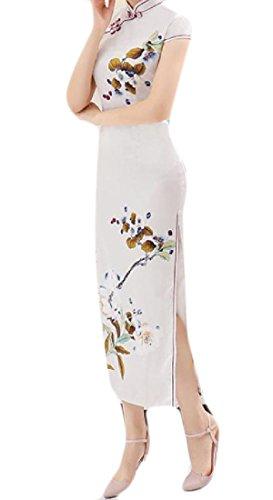 Coolred Collare Vestito Stile 8 donne Sposa Floreale Tagliate Del Cina Di Da Cinese Basamento pqzpRxrw5