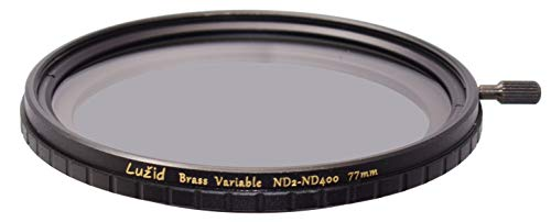 LUŽID 77mm Vari ND ND2-ND400 MC Filter Schott B270 Glass Brass Frame Multi-Coated 1 Stop to 8.5 Stops Anti-Vignetting 77 Luzid