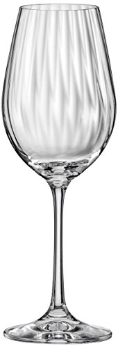 DAVID SHAW Bohemia Waterfall Optic Wine Glass,Set of 6, 350ml/12.5 oz Review