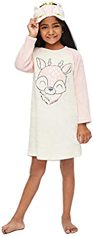 Jellifish Kids Girls Sleep Gown, Applique and Embroidery Detail