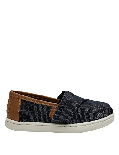 Denim Toms - TOMS Kids Baby Boy's Alpargata (Toddler/Little Kid) Navy Heavy Denim 6 M US Toddler