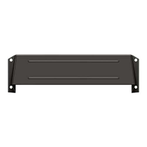 Deltana MSH158U10B Solid Brass Mail Slot Hood for Open Back Plates in Oil Rubbed Bronze