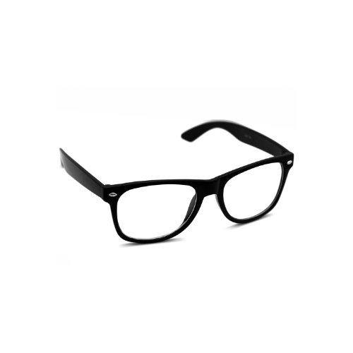 Nerd Sonnenbrille Brille Klare Gläser Wayfarer Style schwarz