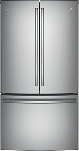 GE Profile PWE23KSKSS 36' Energy Star Counter Depth French Door Refrigerator with 23.1 cu. ft. Capacity Stainless Steel