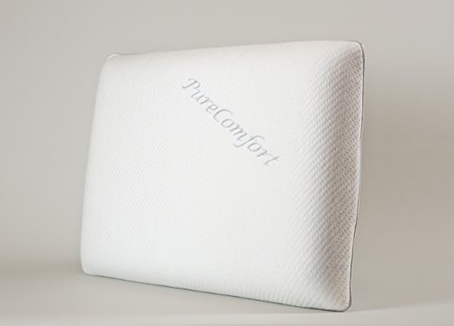 PureComfort  The Thin Pillow | Adjustable Height | Neck & Back Pain Relief | Hypoallergenic CertiPUR-US Memory Foam Pillow with Cool and Soft Bamboo Cover - 5 YR Warranty | 100 Night Trial