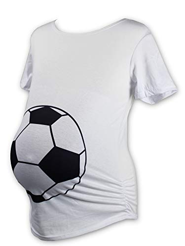 Urbanifi Maternity Women Sports Basketball Volleyball Baseball Short Sleeved Shirt for Mom Fans T Shirt Apparel Tshirt Gifts Team (Soccer, Medium)
