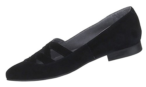 Damen Schuhe Pumps Komfort Leder Schwarz