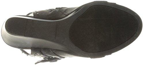 Sukker Kvinders Hucklebaby Spænde Stud Tylle Stablet Kile Sandal Sort Dist Stof 2X8Wc