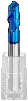 NO LOGO 1pc HRC65 2 Flöten-Kugel-Nasen-Fräser for Stahl Kupfer Wolfram-Cutter CNC-Werkzeuglegierungsbeschichtung Schaftfräser Endmillings (Größe : R2.5x50L(5D))