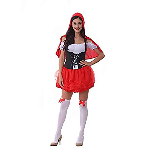 (Anime Costume Cosplay Dress Halloween Costume Little Red Riding Hood Witch Costume Queen Costume Party)