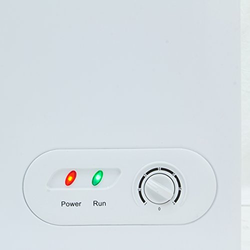 Della Upright Deep Chest Freezer Compact 6.9 Cubic ft Adjustable Thermostat, White