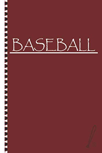 """Baseball: Training Tracker Journal Coaching Baseball Notebook College Ruled Lined Pages Gift For Baseball Players.(6"""" x 9"""" / 100 pages)"""