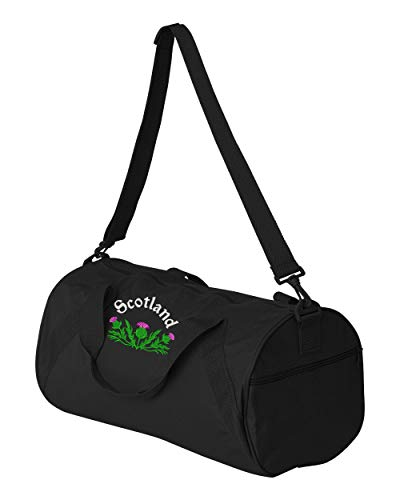 (Scottish Thistle Personalized Embroidered Duffle Bag)
