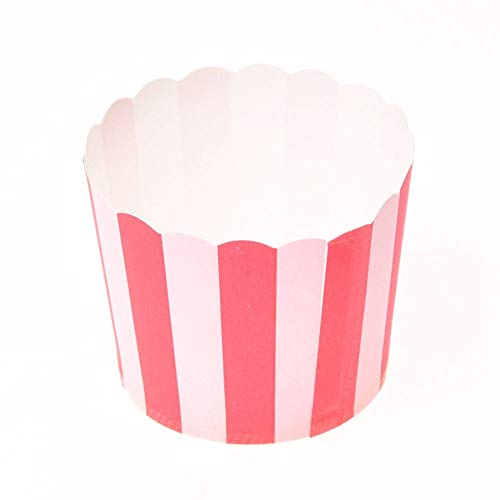 (Ants-Store - 50X Cupcake Wrapper Paper Cake Case Baking Cups Liner Muffin Kitchen Baking Red Stripes)