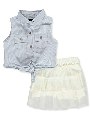 dollhouse Baby Girls' 2-Piece Skirt Set Outfit - Ivory, 18 Months ()