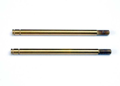 (Traxxas 2765T Hardened Steel, TiN-Coated Shock Shafts, X-Long (pair))