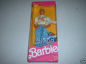 All American Barbie KEN Doll w Reebok Shoes - Malaysia Hi Style
