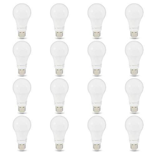 AmazonBasics 100W Equivalent, Soft White, Non-Dimmable, 10,000 Hour Lifetime, A19 LED Light Bulb | 16-Pack
