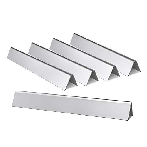 Hongso 7539 7540 24.5 Inch Stainless Steel Flavorizer Bars Replacement for Weber Genesis 300 Series E-310, E-320, S-310, S-320 (with Side-Controls Panel) Heat Deflectors 5-Pack 20 Gauge