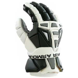 Under Armour Lacrosse Charge 2 Lax Men's Gloves Black White 13'