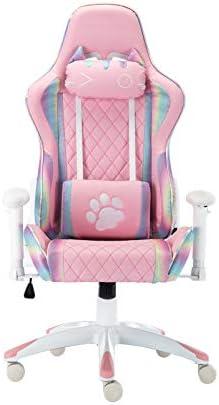 CIMOO Cute Pink Gaming Chair - a good cheap computer gaming chair