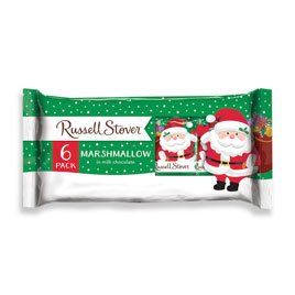 Russell Stover Milk Chocolate Marshmallow Santa 6-Pack, 6 oz. bar