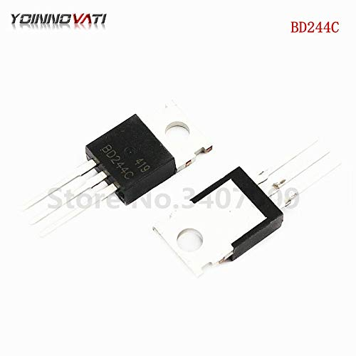 Alphabet Junction - Gimax 10PCS BD244C TO-220 BD244 Bipolar junction transistor (BJT) PNP Epitaxial Sil New Original
