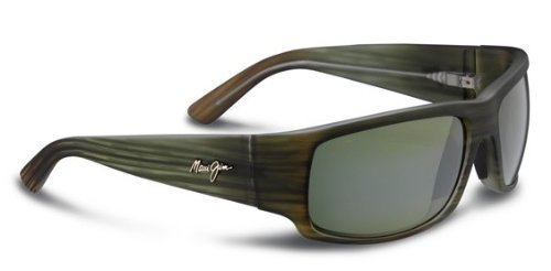Maui Jim Sunglasses - World Cup / Frame: Matte Green Stripe Rubber Lens: Maui - Jim Maui Ht Lenses
