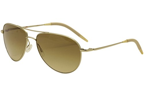 Oliver Peoples Men OV1002S BENEDICT Gold/Yellow Sunglasses - Person In Sunglasses
