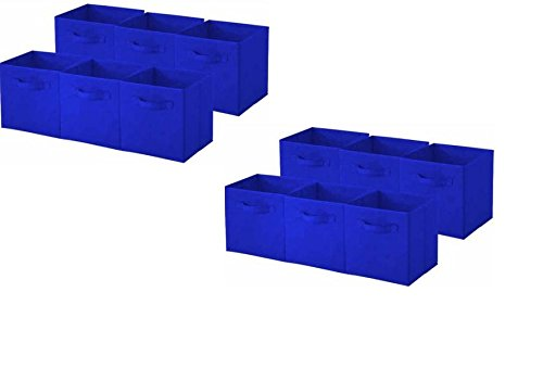 sorbus-collapsible-storage-cube-nonwoven-polypropylene-and-cardboard-12-pack-royal-blue