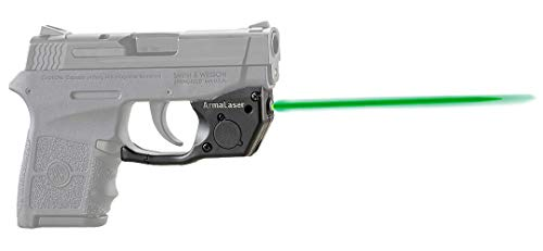 ArmaLaser TR24G Designed for S&W Bodyguard 380 Ultra Bright Green Laser Sight Grip Activation (Smith And Wesson Bodyguard 380 Laser Battery Size)