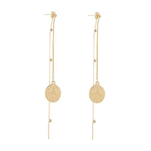 - Coin Earrings with Metal Bar Dangle Earrings for Women Fashion Jewelry SENTERIA (style 2)