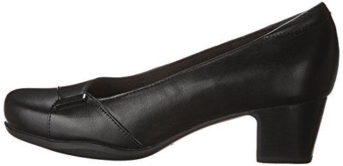 CLARKS Women's Rosalyn Belle Black Leather 9.5 D - Wide by CLARKS (Image #5)