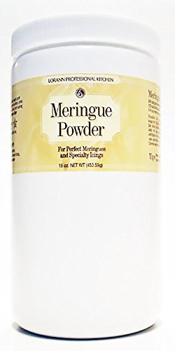 LorAnn Meringue Powder 16 ounce 1 Convenient and easy to use! Make perfect meringues and specialty icings with LorAnn's meringue powder - just add sugar and water. Powdered meringue can be used as a substitute for egg whites to make meringue cookies, shells and other desserts. It's particularly useful in royal icing to add body and stability. Royal icing and meringue recipes included.