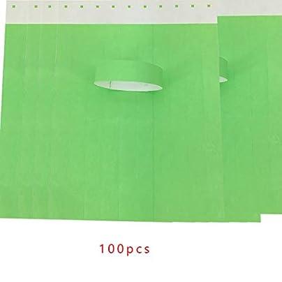 Demino 100Pcs set Waterproof Disposable Events Wristbands Non-woven Fabric Paper Wristbands Amusement Park Admission Ticket Estimated Price £2.60 -