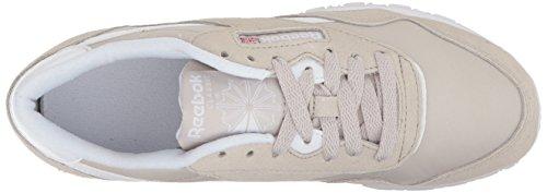 Women's Sneaker Neutrals Cl Nylon White Sandstone Reebok d0Sqfd