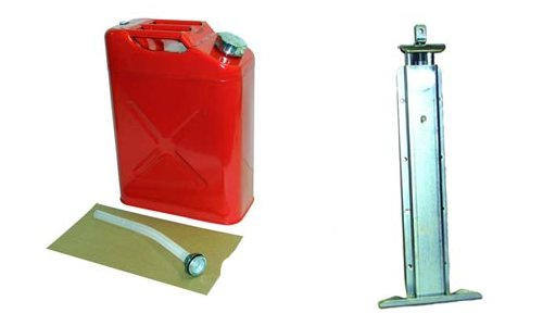 RED Jerry Can w/ Rear Mount Jeep Truck Sand Rail Universal Off Road