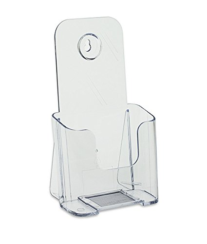 Source One Tri Fold Brochure Holder 4X9 (6 Pack, Clear)