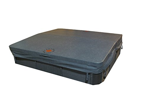 Canadian Spa Company 86in x 86in Square Hot Tub Cover with 5in/3in Taper, 4in Radius - Grey by Canadian Spa Company