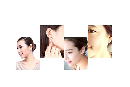 2PCS Disposable Ear Puncturing Tool Healthy Safety Asepsis Ear Navel Lips Nose Body Ring Piercing Tattoo Gun Kit with Stainless Steel Ear Studs(White) by Elandy (Image #8)