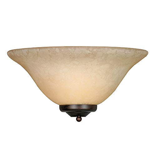 - Golden Lighting 8355 RBZ Multi-Family One Light Wall Sconce, Rubbed Bronze Finish