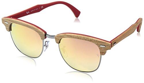 Ray-Ban Men's Clubmaster (m) Non-Polarized Iridium Square Sunglasses, Gunmetal, 51 - Ban Ray Polycarbonate