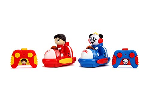 Jada Ryan's World Bumper Cars Twin Pack Full Function Rc, Combo Panda & Ryan