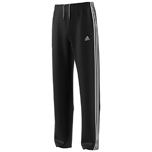 Men's adidas 2 POCKETS Athletic Track Pants (LARGE, BLACK)