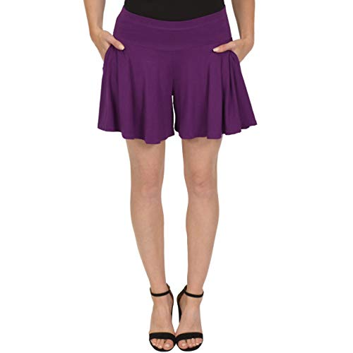 (Stretch is Comfort Women's Flowy Skort with Pockets Purple 2X)