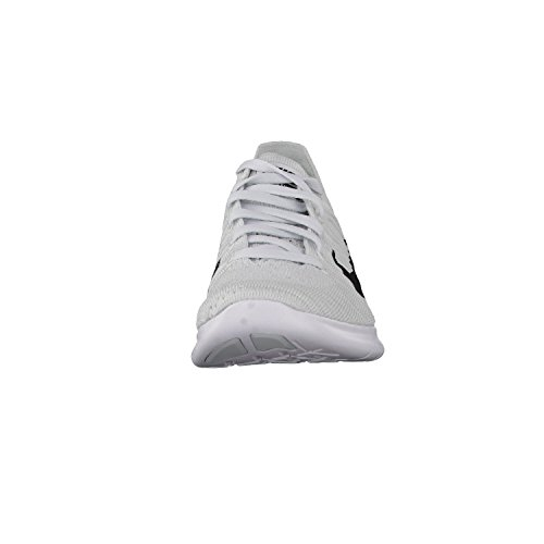 Nike Dames Gratis Rn Flyknit 2017 Sportschoen Wit / Zuiver Platina / Zwart