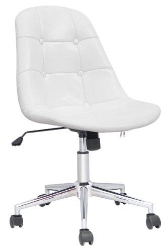 SixBros. Design Rollhocker Arbeitshocker Hocker Bürostuhl Weiß - M-65314-1/726