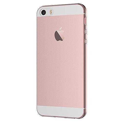 iPhone SE Hülle, AICEK Transparent Silikon Schutzhülle für iPhone SE / iPhone 5S Case Crystal Clear Durchsichtige TPU Bumper iPhone SE / iPhone 5S / iPhone 5 Handyhülle